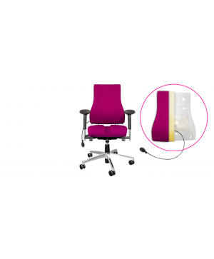bureaustoel met oppompbare bekkensteun