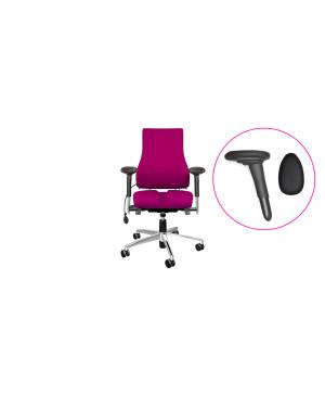 bureaustoel met speciale armleggers