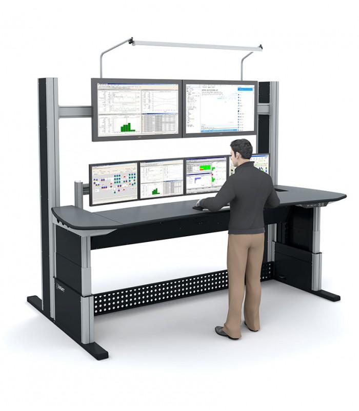 Bma ergonomics inrichting controlekamer for Mesa de trabajo jardineria